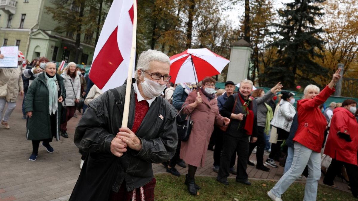 Протесты Беларусь Белоруссия пенсионеры