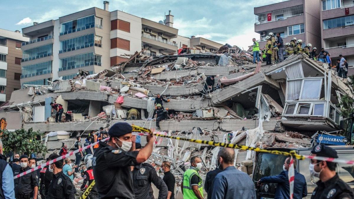 Турция землетрясение два