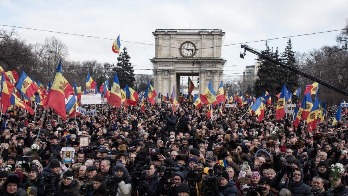 Молдавия протесты митинг