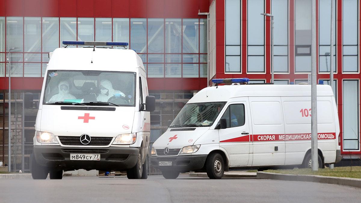 машины скорой помощи очередь больницы здравоохранение Инфекции Коммунарка Коронавирус