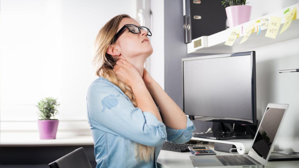 Работа на дому удалёнка дистанционная боль в шее усталость