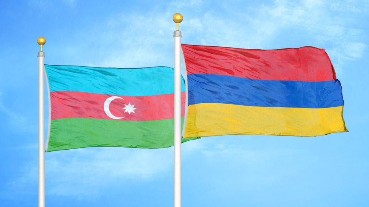 Азербайджан и Армения флаги