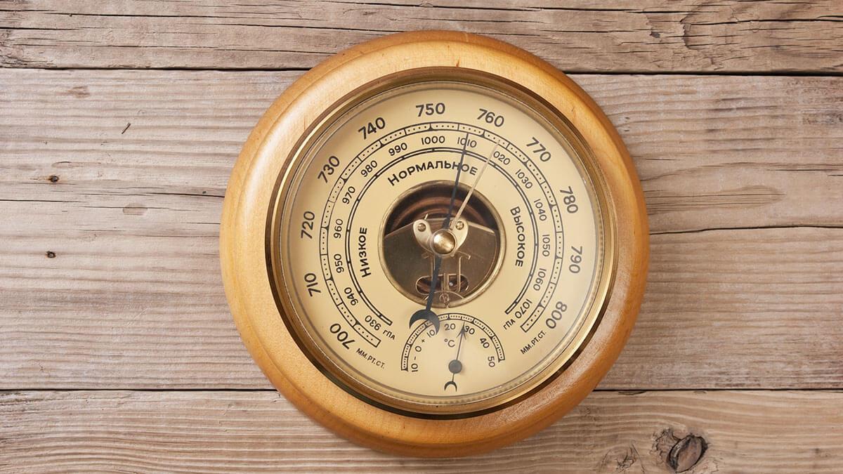 барометр высокое атмосферное давление