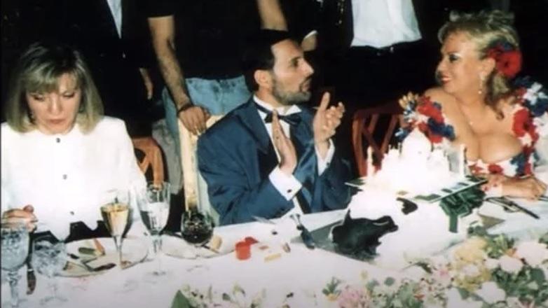 Фредди Меркьюри, Барбара Валентин и Мэри Остин на его последнем дне рождения