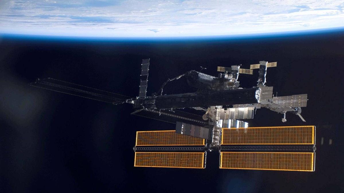 МКС Международная космическая станция верх