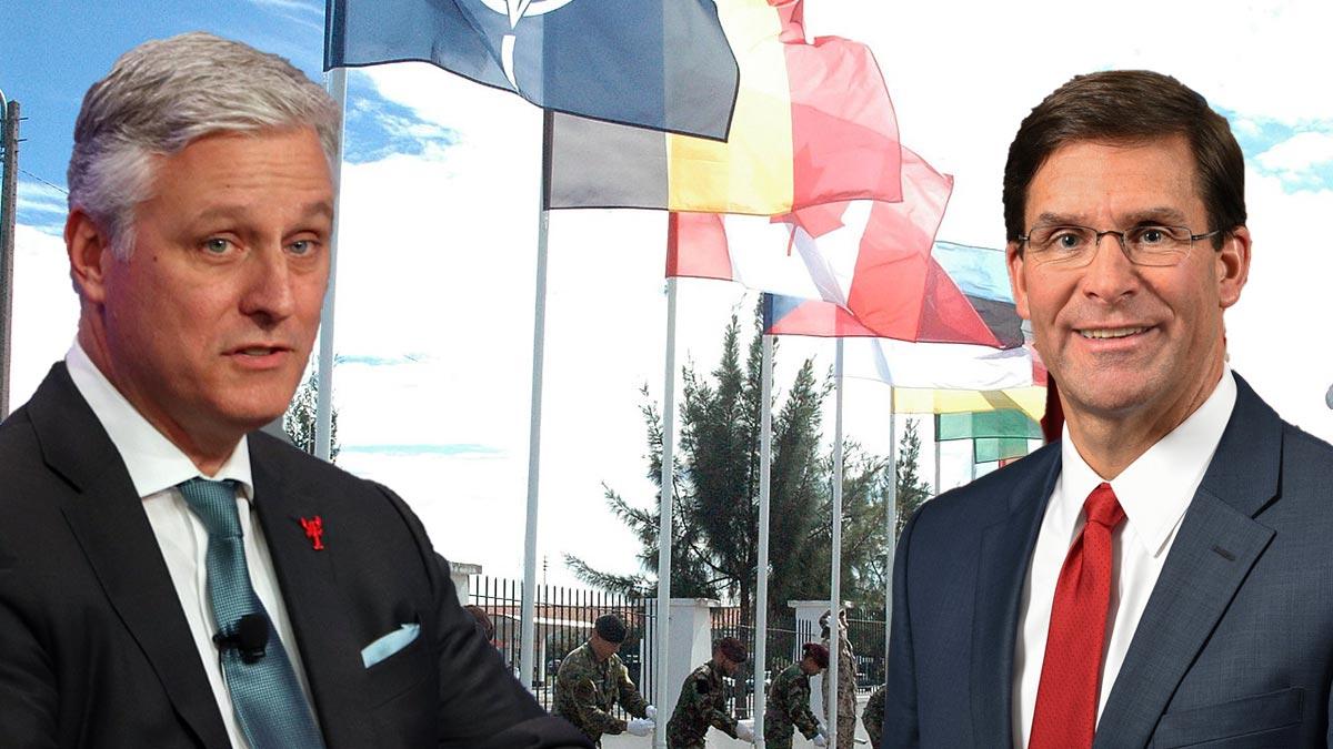 Министр обороны США Марк Эспер и советник президента США по национальной безопасности Роберт О'Брайен