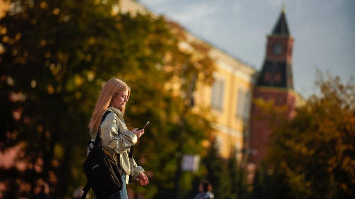 Осень тёплая погода в Москве