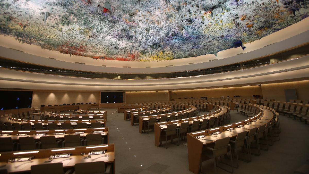 Зал заседаний Совета по правам человека ООН