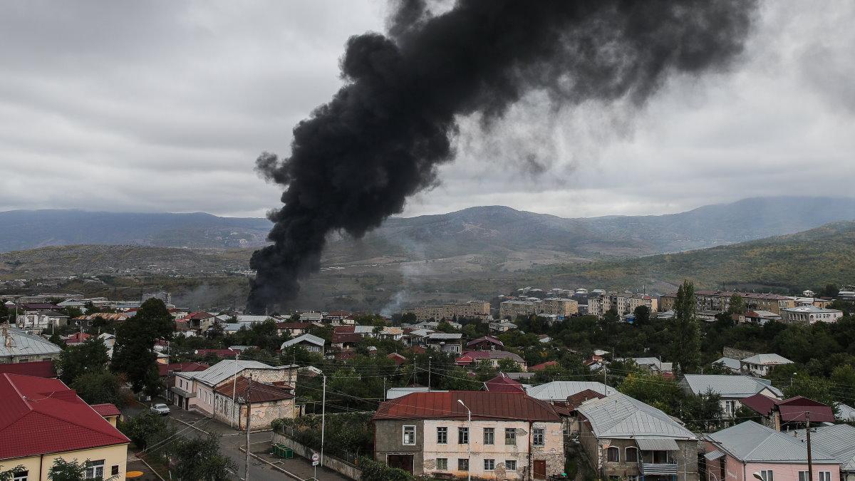 Нагорный Карабах обстрел взрыв два