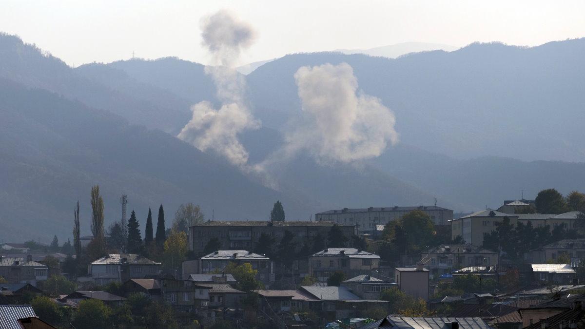 Нагорный Карабах обстрел взрыв один