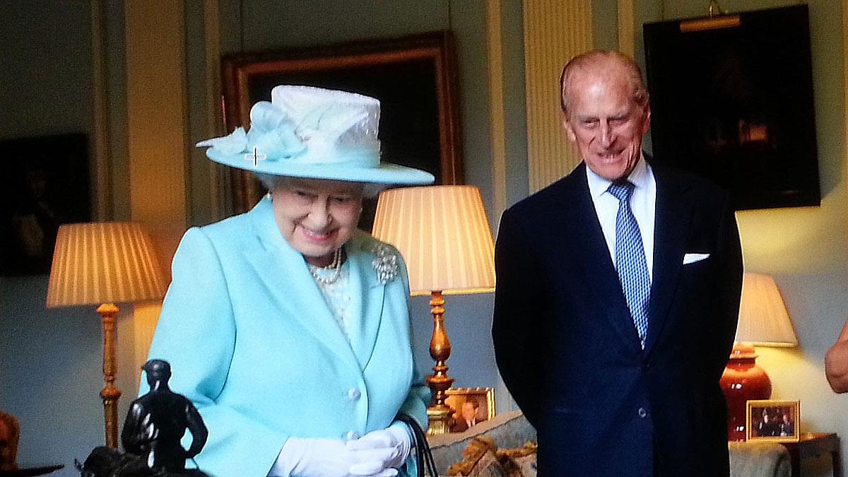 Принц Филипп королева Елизавета вторая II