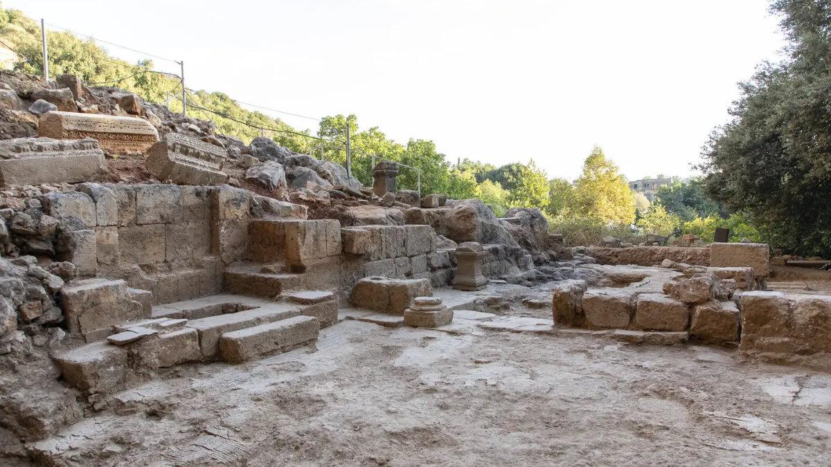 Византийская церковь в заповеднике Баниас на Голанских высотах археология