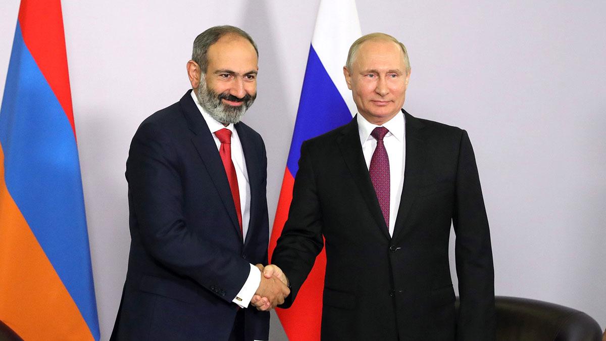 Никол Пашинян Владимир Путин