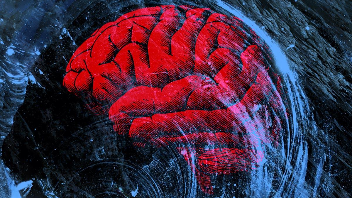 мозг иллюстрация стекло графика