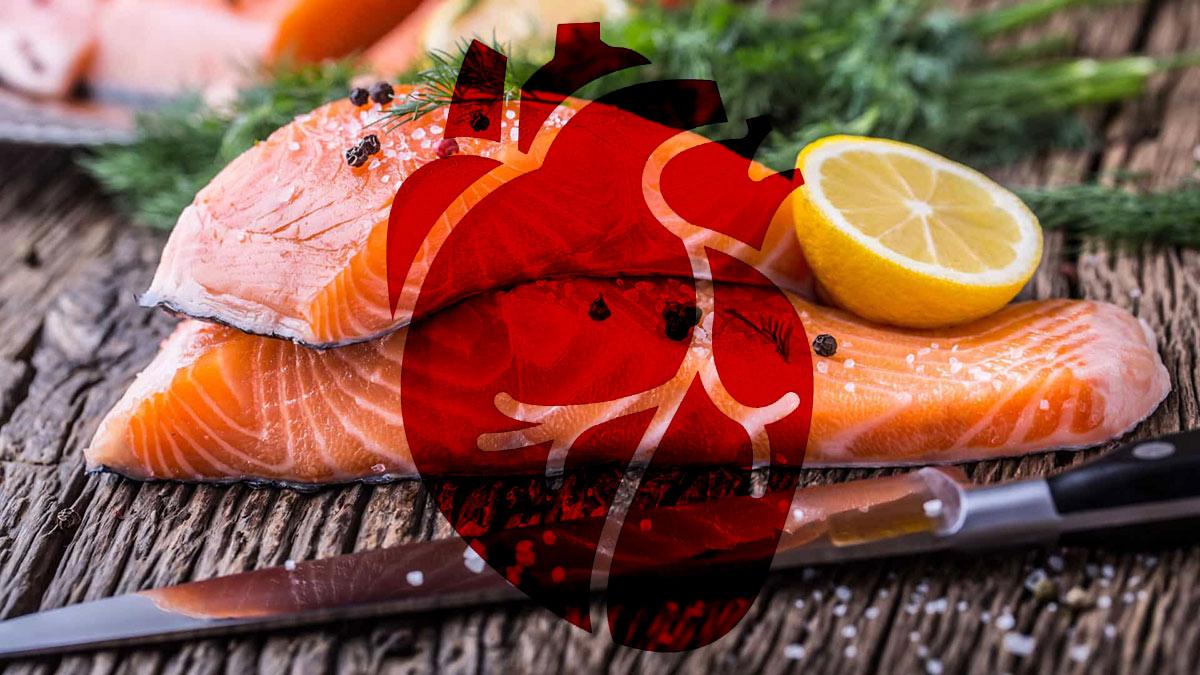 красная рыба семга форель сердце