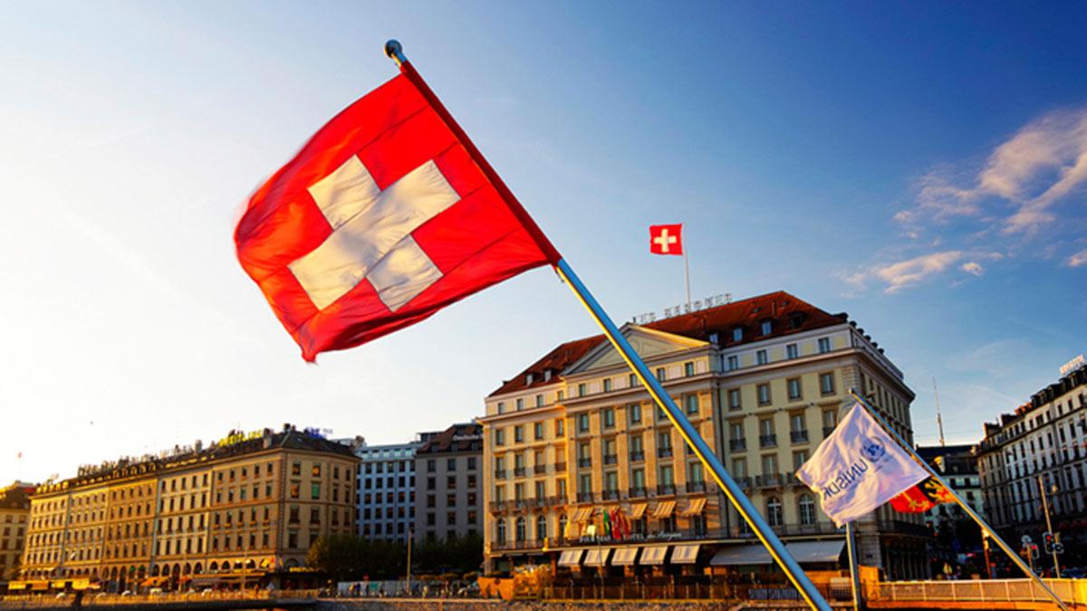Женева швейцария флаг