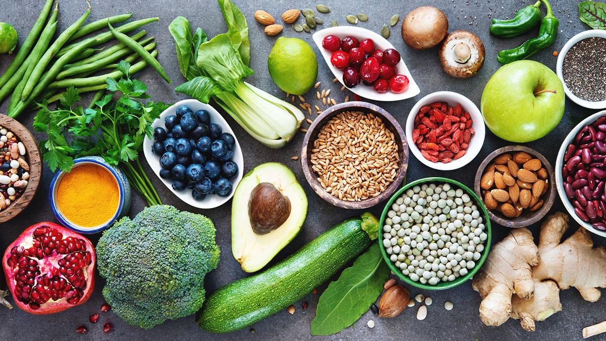 здоровая пища еда продукты на столе