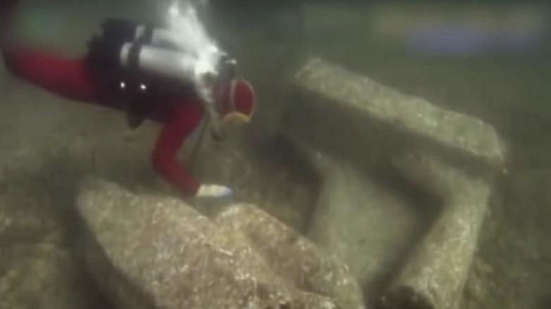 древние сооружения под водой