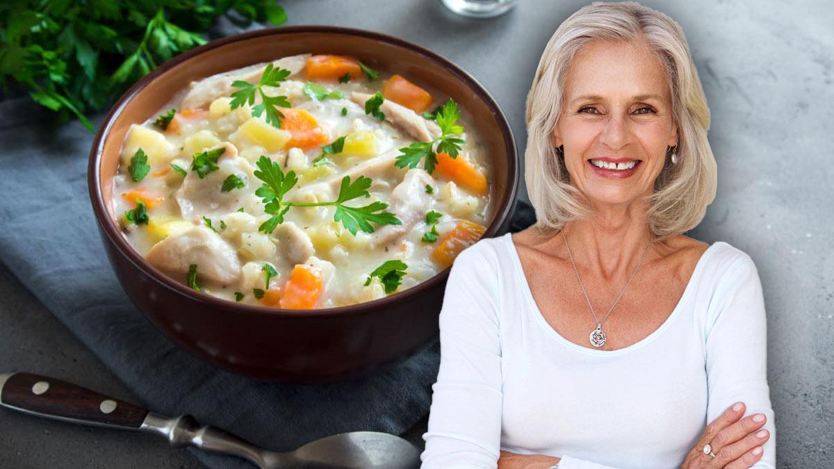 куриный суп женщина долголетие здоровая еда пища