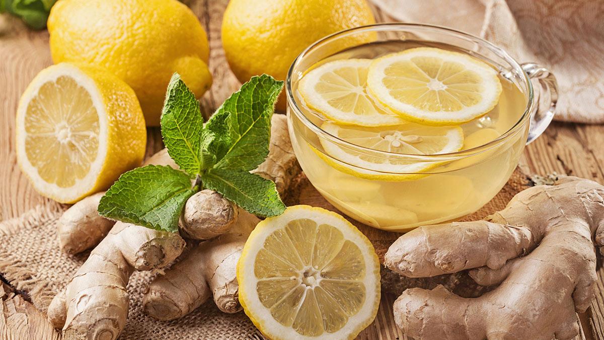 лимон имбирь напиток коктейль детокс