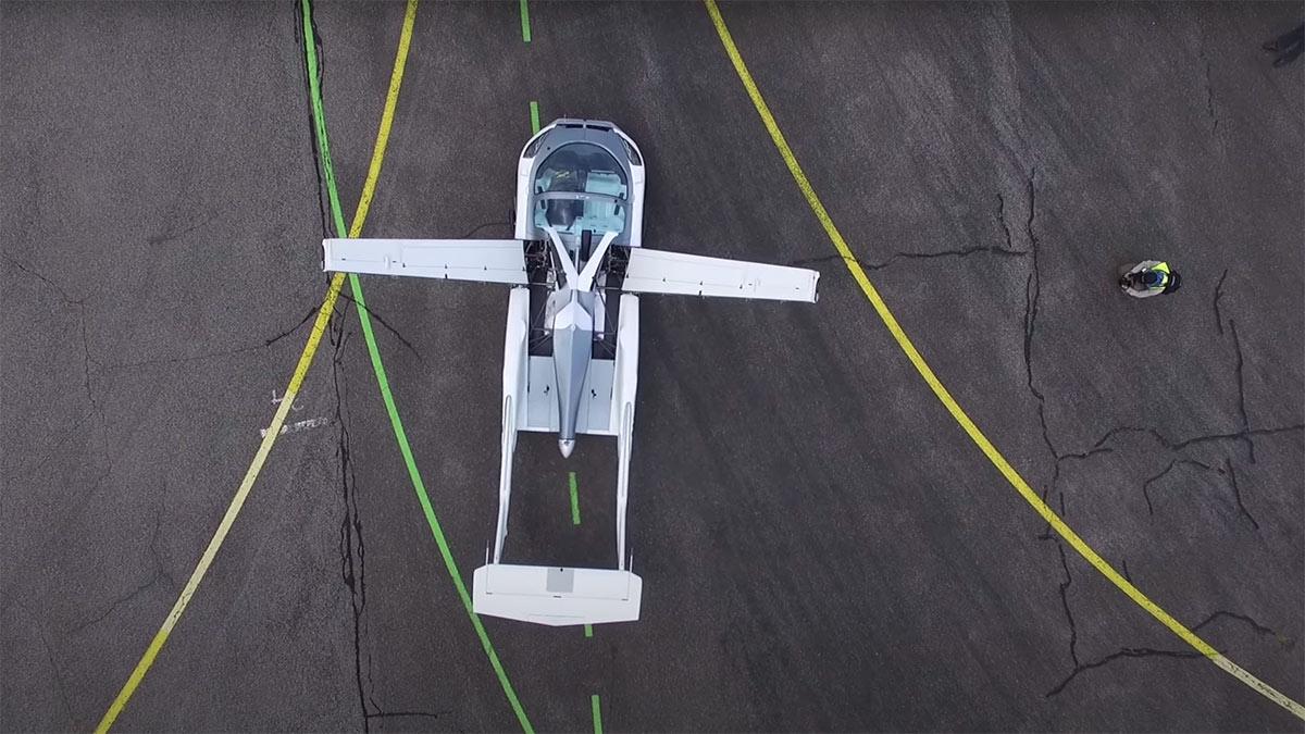 летающий автомобиль вид сверху