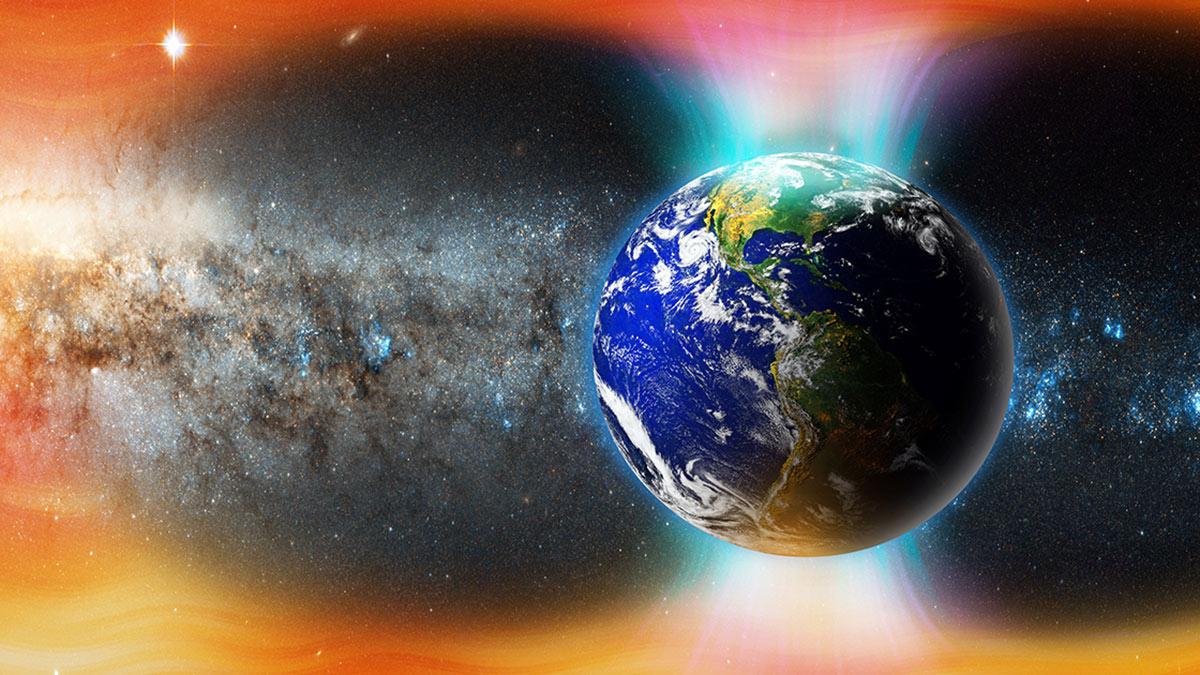 магнитная буря шторм земля космос планета