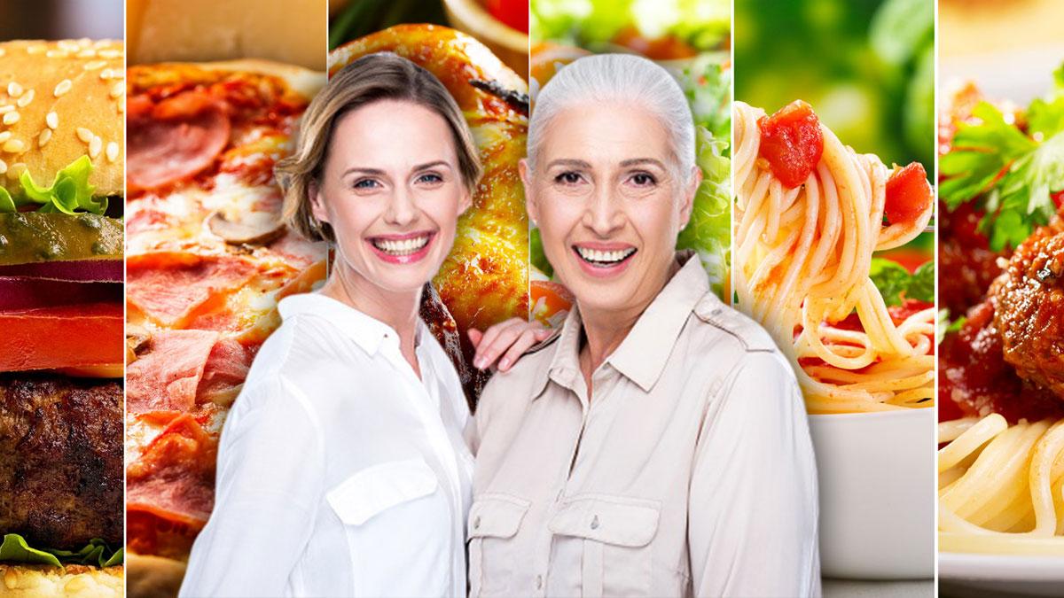 мать и дочь молодая и взрослая женщина здоровье еда