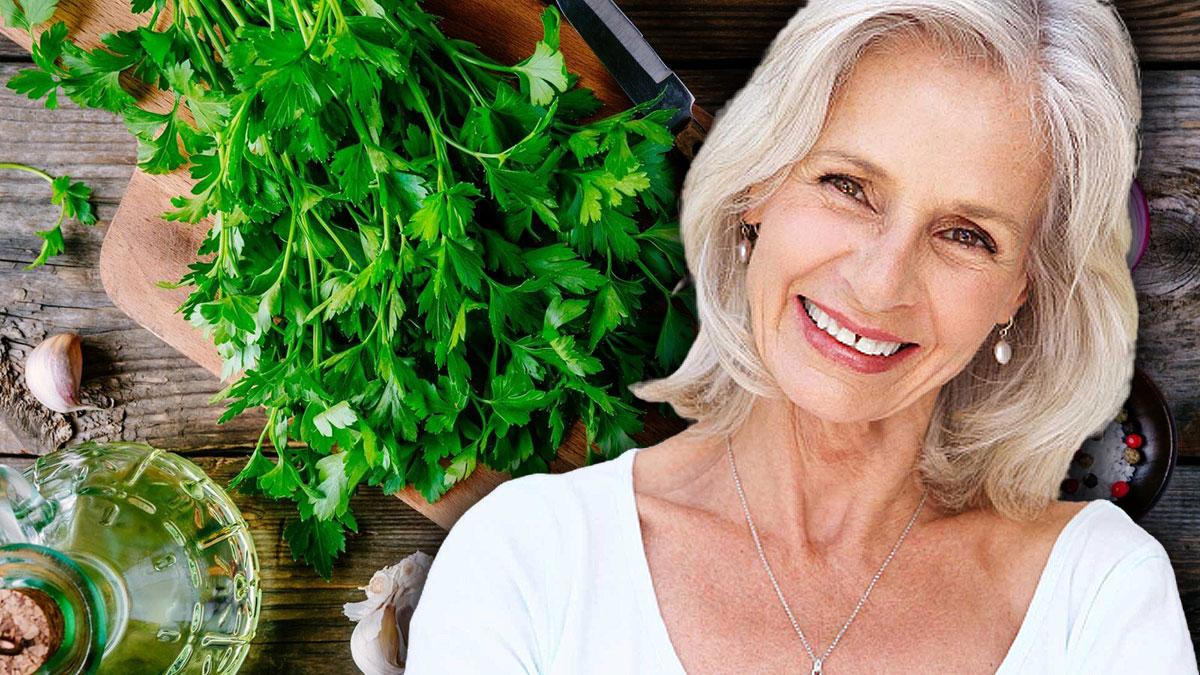 пожилая женщина здоровье петрушка зелень
