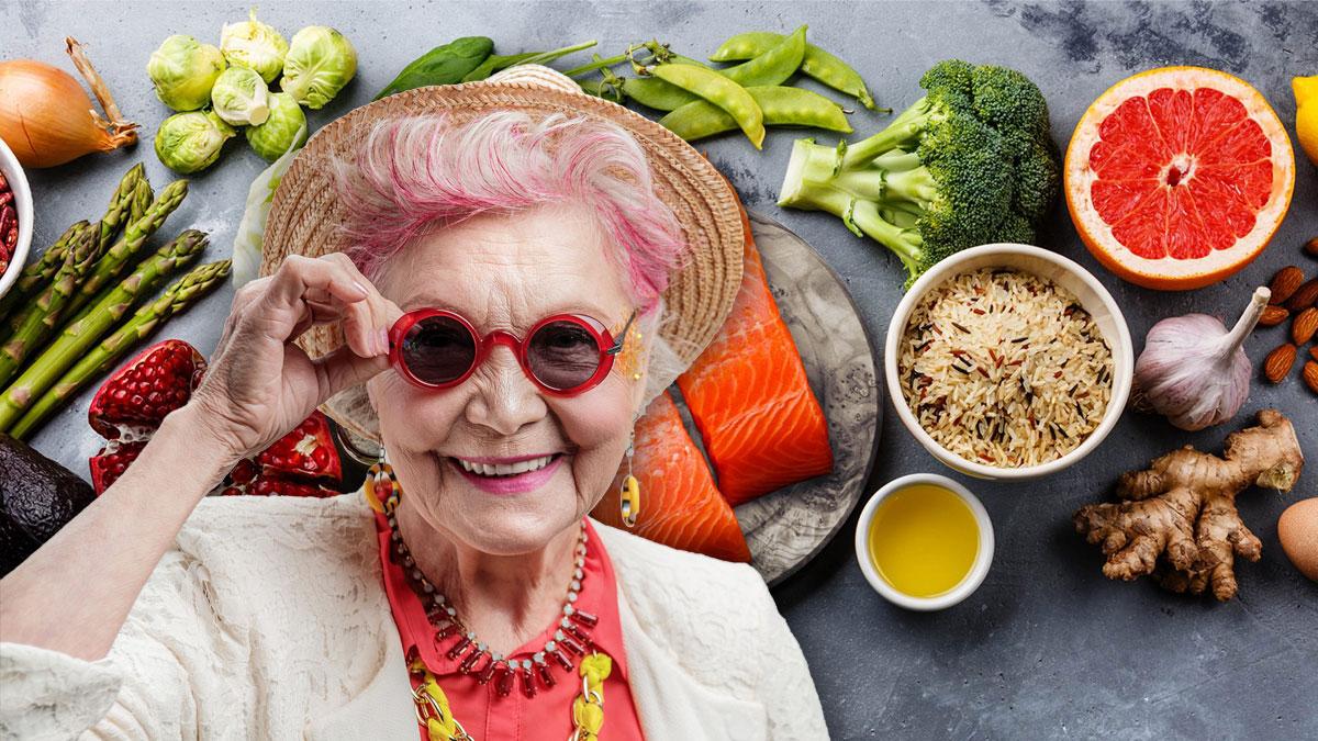 пожилая женщина диета здоровое питание долголетие радость