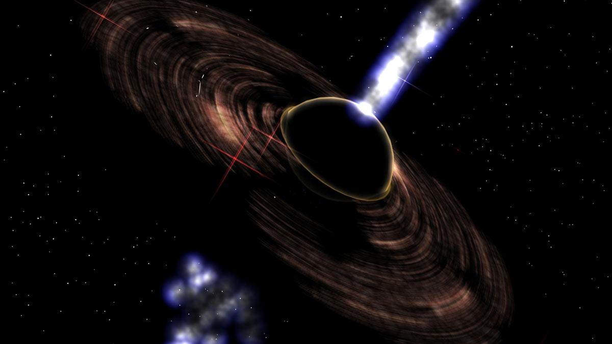 космос черная дыра блазар