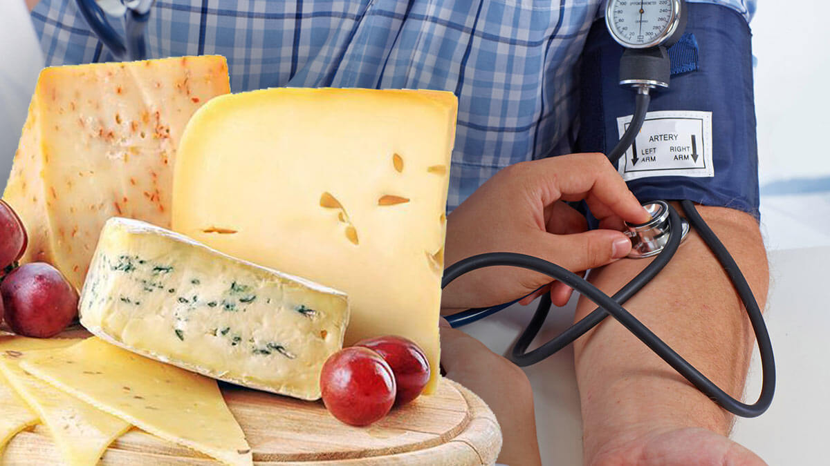 разные виды сыров давление