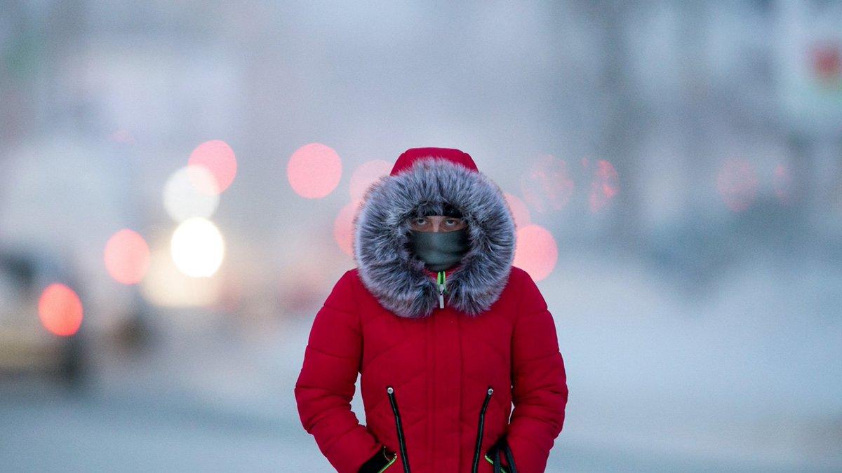 улица люди мороз холод