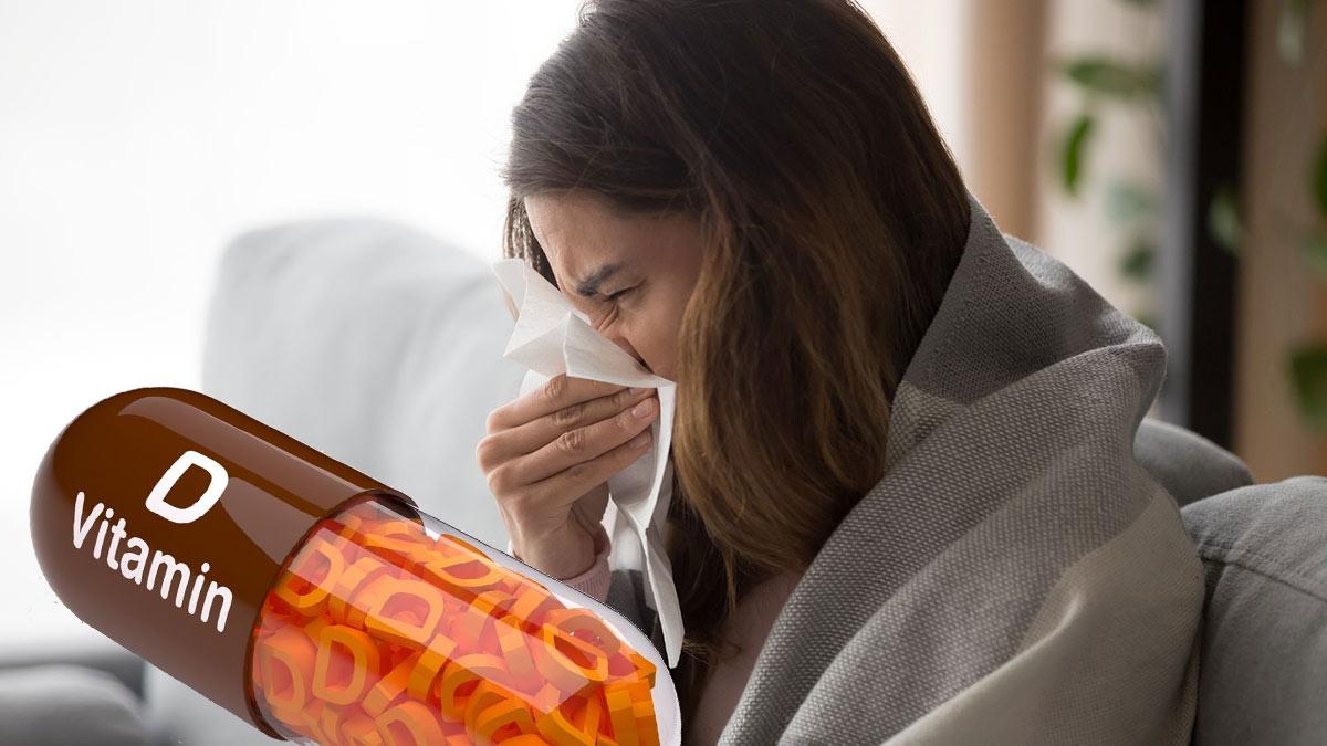 дефицит витамина D девушка насморк болезнь плохое самочувствие