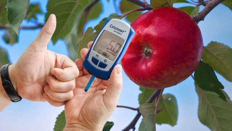 яблоко на ветке и диабет