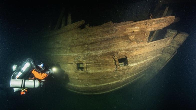 затонувшее судно XVII века в Балтийском море