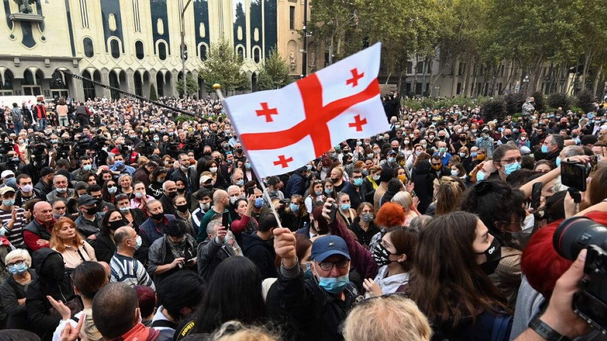 Грузия протесты оппозиция