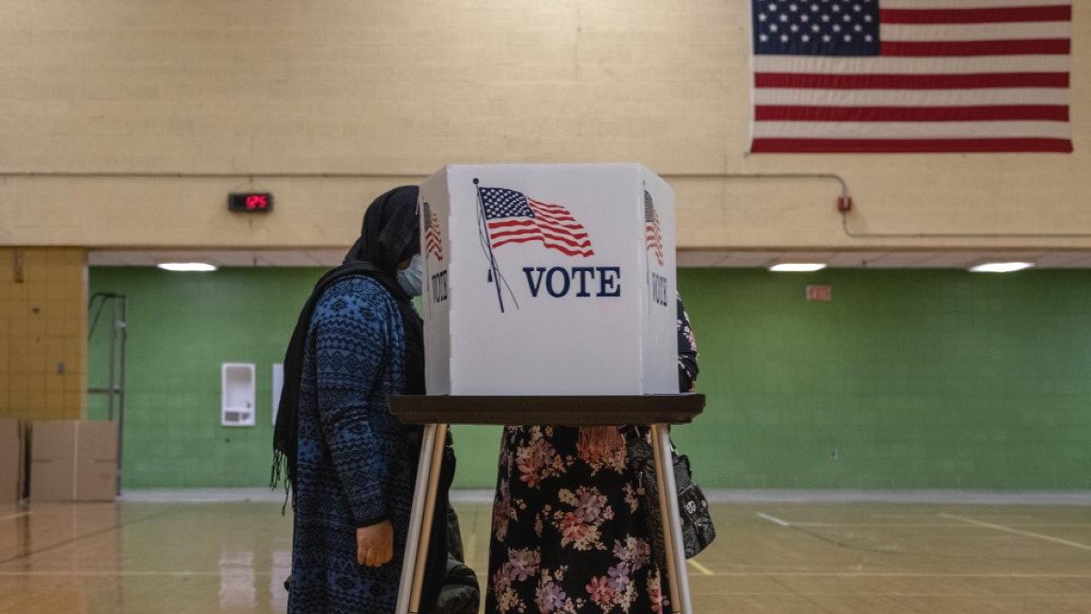 США голосование выборы избирательный участок два