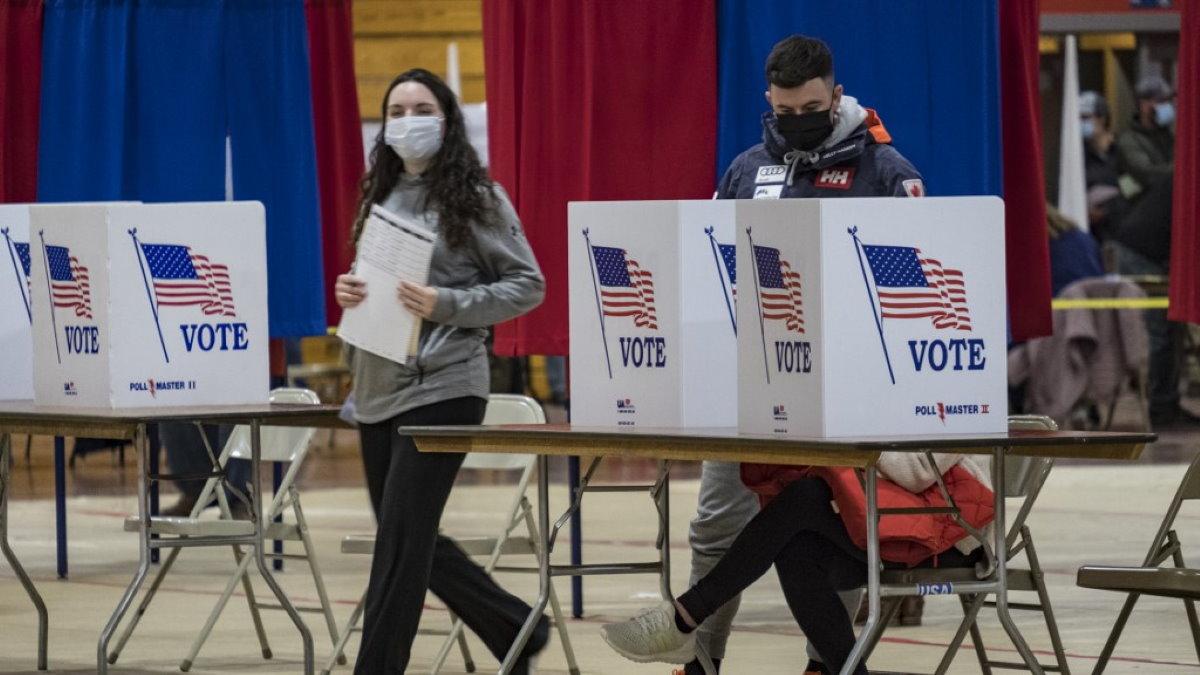 США голосование выборы избирательный участок один