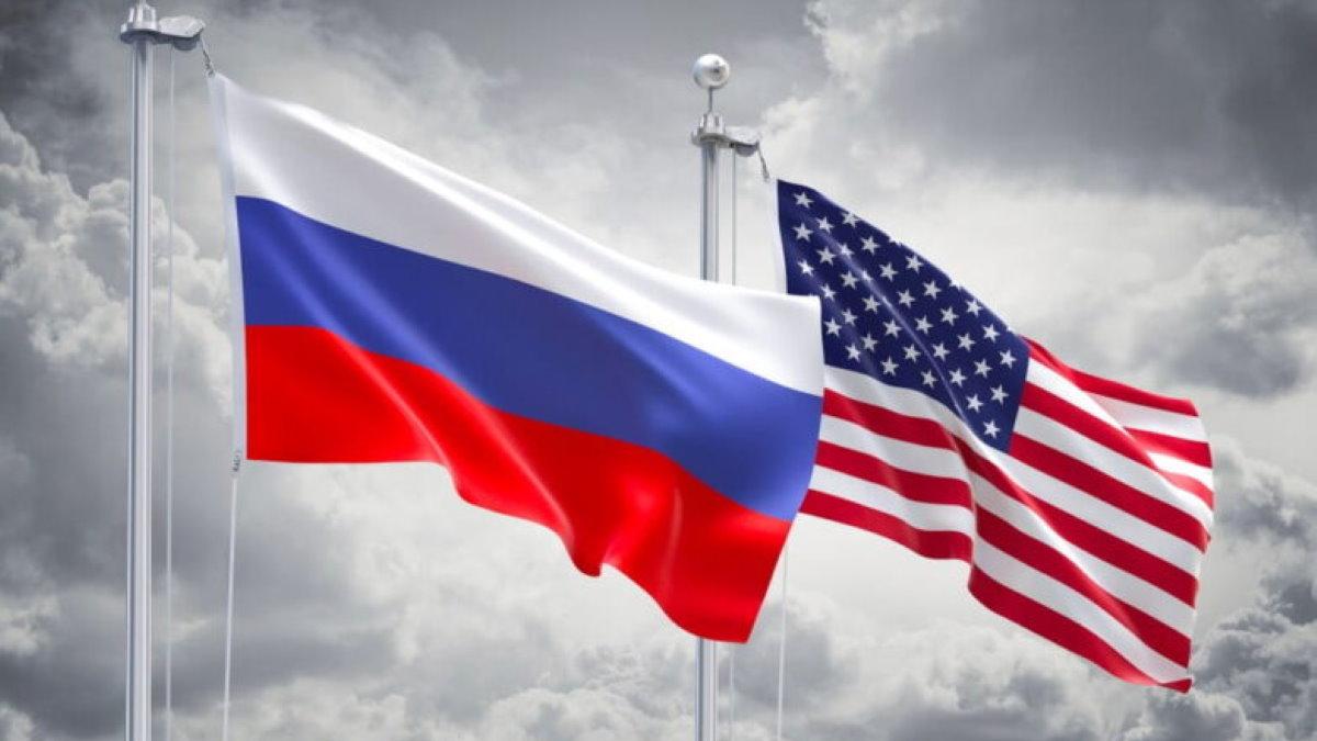 США Россия флаги плохие отношения санкции