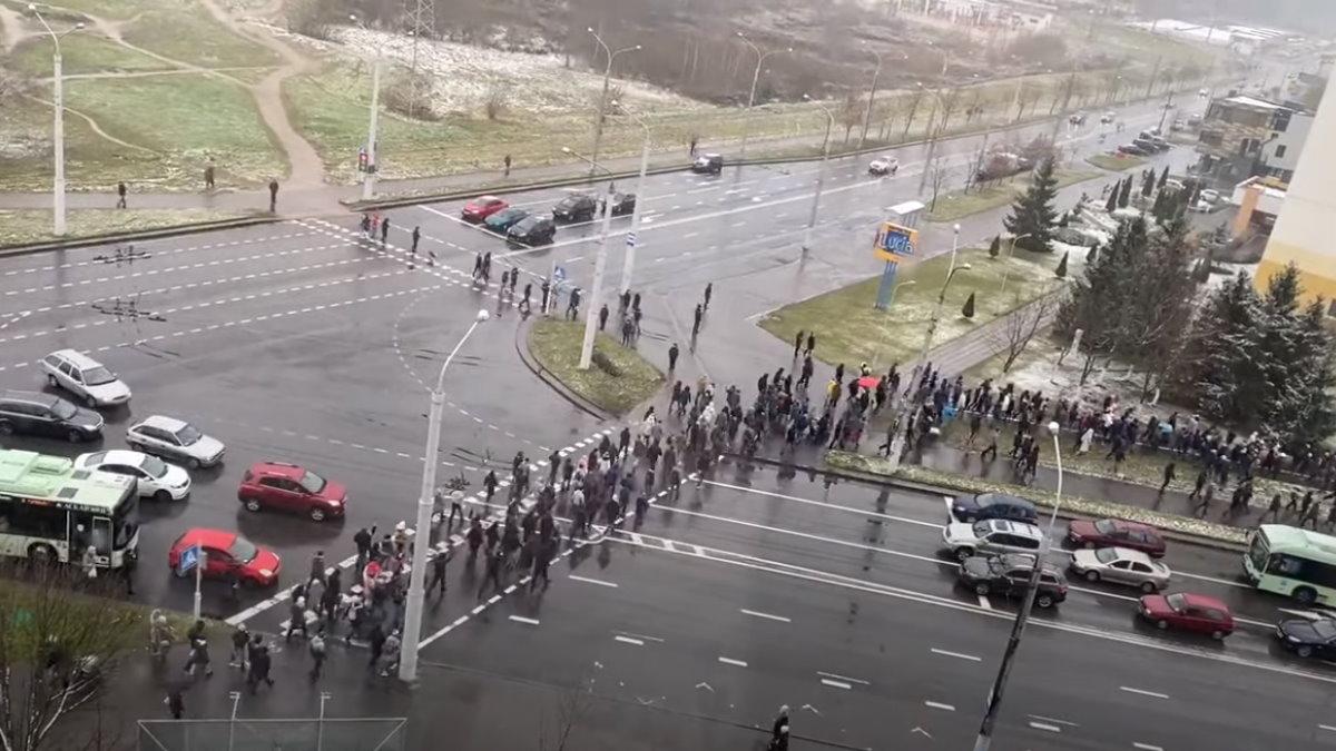 Минск Белоруссия Беларусь протесты Марш соседей