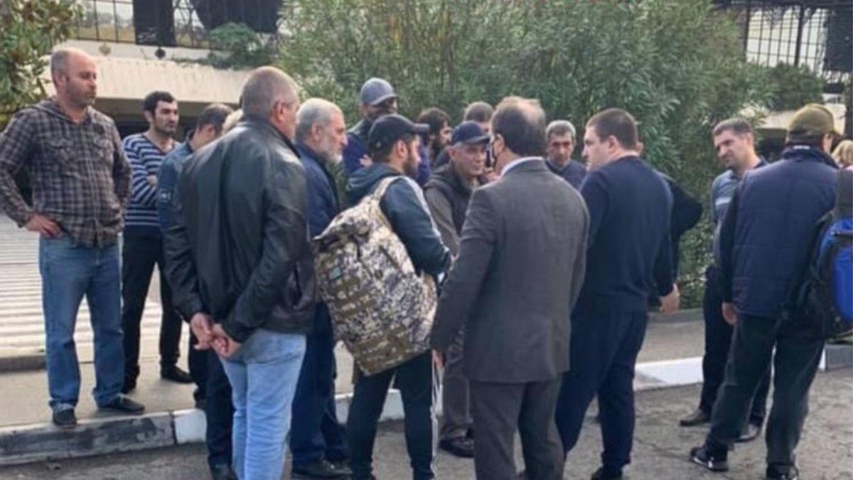 Добровольцы из Абхазии отправляются в Карабах