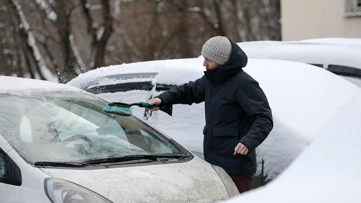 снегопад сугробы зима авто снег мороз автомобили