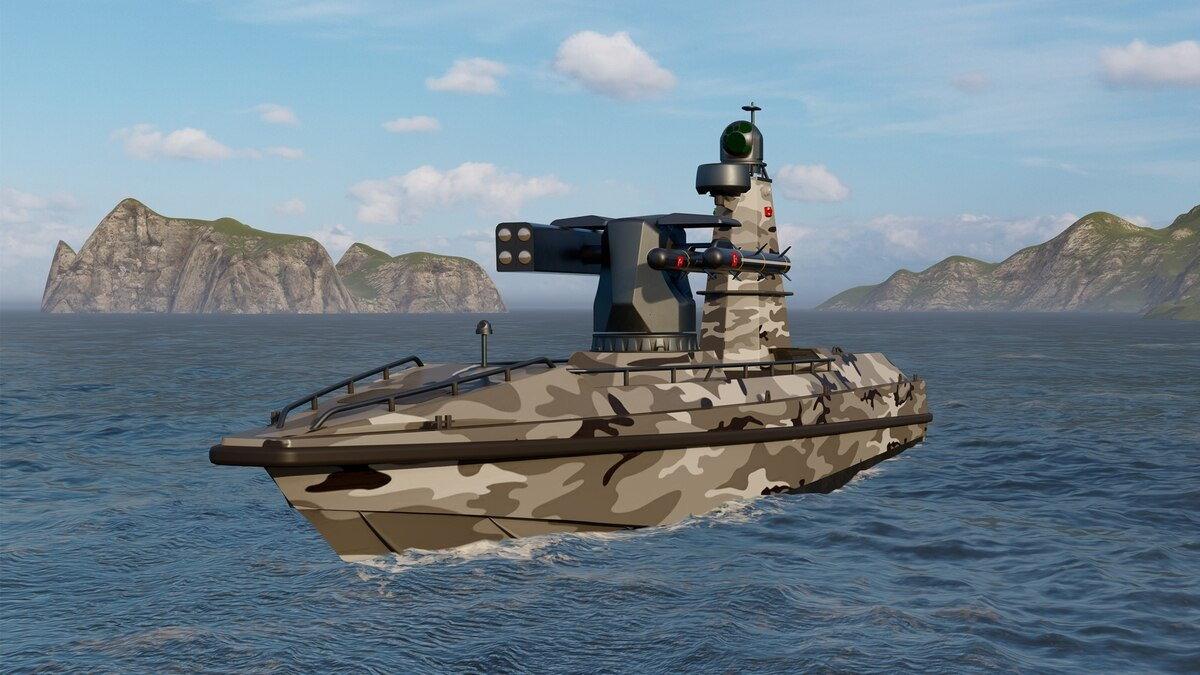 Боевой катер-дрон ULAQ турецкий