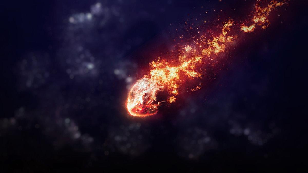 Метеорит в атмосфере Земли