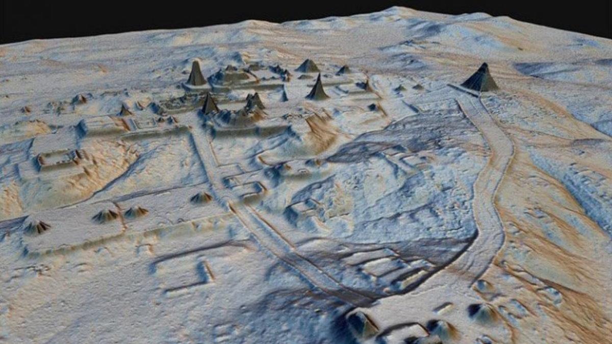 Лидарный снимок Майя LIDAR лидар один