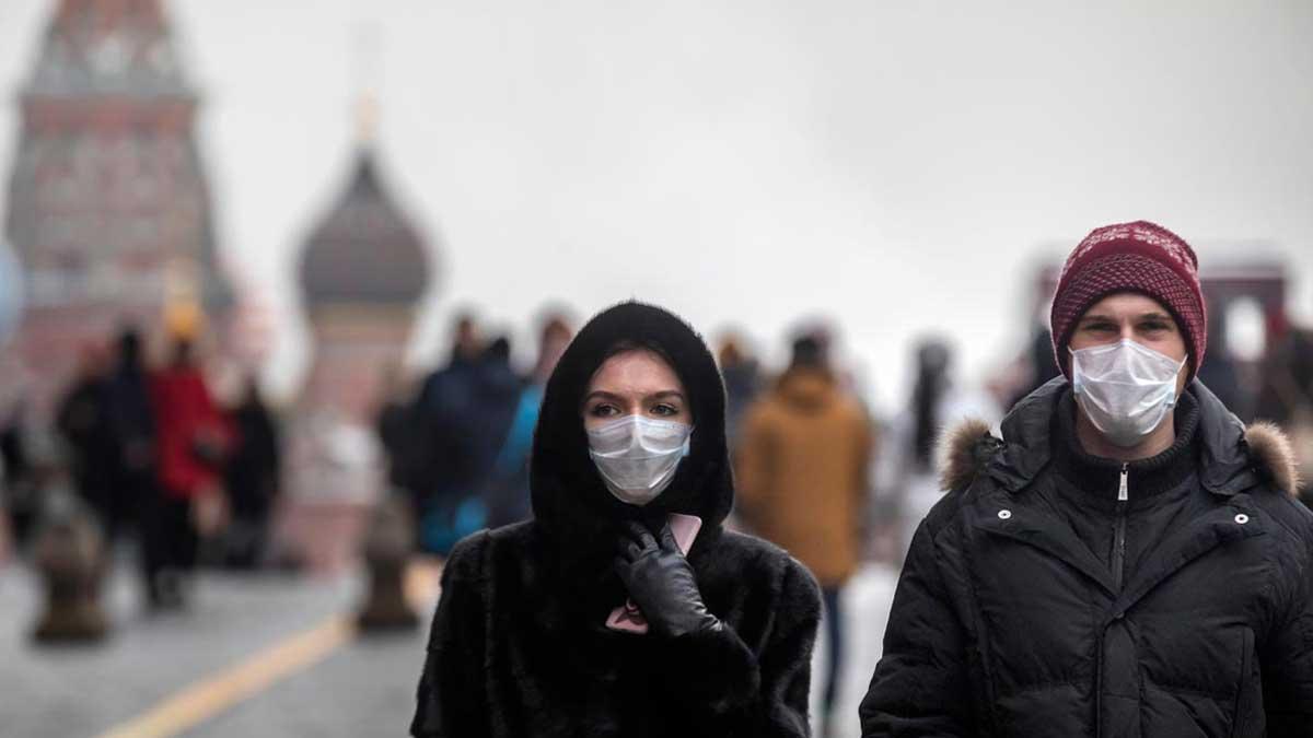 Москва маски люди Moscow masks people
