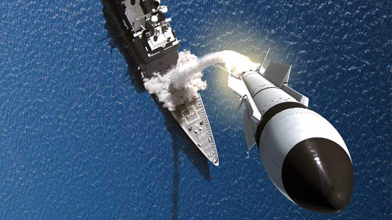 Ракета-перехватчик SM-3 попадание