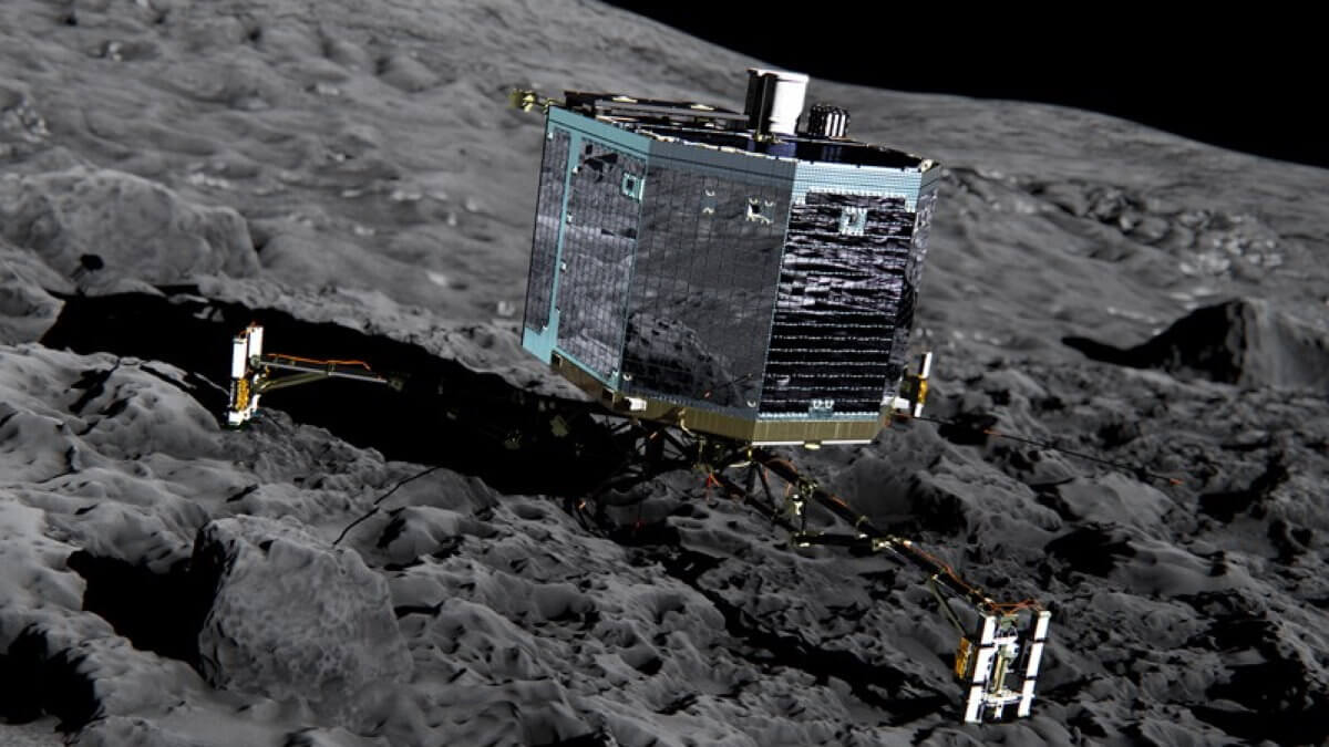 спускаемый аппарат Филы размещённый на космическом аппарате Розетта