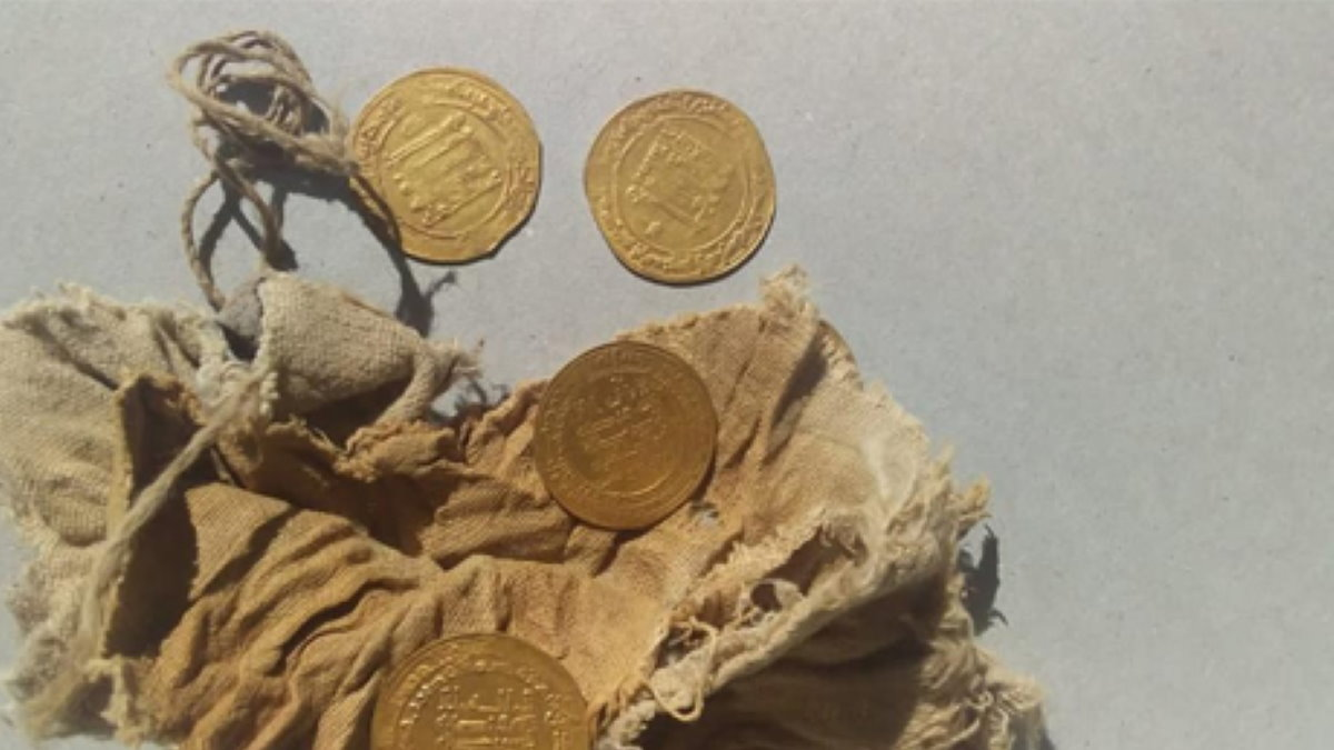 Золоте динары эпохи Аббасидов археология