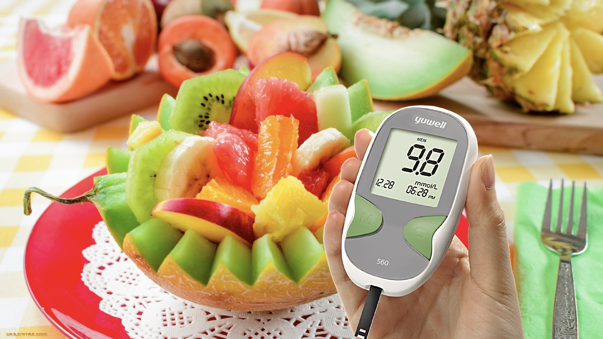 фрукты глюкометр и уровень сахара